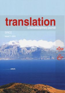 Translation. A transdisciplinary journal (2017). Vol. 7: Space -