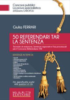 50 referendari TAR. La sentenza - Ferrari Giulia