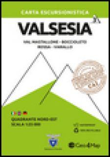 Carta escursionistica Valsesia. Scala 1:25.000. Ediz. italiana, inglese e tedesca. Vol. 3: Quadrante nord-est: Val Mastallone, Rossa, Varallo -