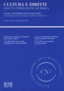 Cultura e diritti. Per una formazione giuridica (2020). Vol. 1: Gennaio-Aprile -
