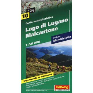 Lago di Lugano, Malcantone 1:50.000. Carta escursionistica -