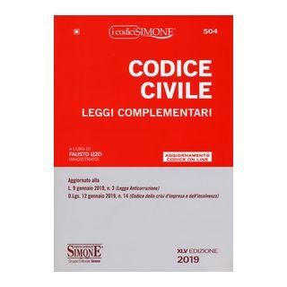Codice civile. Leggi complementari. Con aggiornamento online - Izzo F. (cur.)