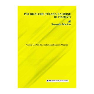 Per qualche strana ragione io piacevo. Andrea G. Pinketts, metabiografia di un maestro - Marino Rossella; Sartirana L. (cur.)
