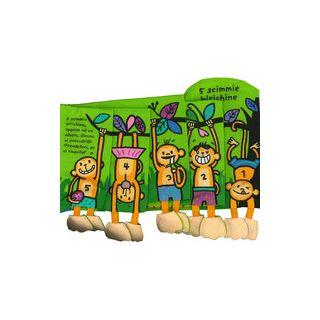 5 scimmie birichine. Imparare giocando. Ediz. a colori -