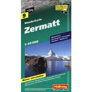 Zermat 1:50.000. Carta escursionistica -