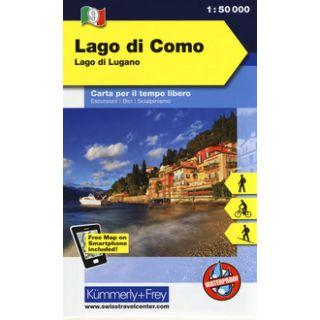 Lago di Como, lago di Lugano 1:50.000. Carta escursionistica -