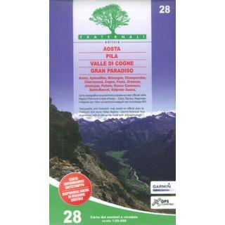 Carta n. 28. Aosta, Pila, Valle di Cogne, Gran Paradiso 1:25.000 -