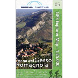 Vena del Gesso Romagnola. Carta topografica per escursionisti a piedi ed in mountain bike in scala 1:25.000 - Gherardi Massimo; Brusa Matteo