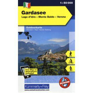 Lago di Garda, lago d'Idro, Monte Baldo, Verona 1:50.000. Carta escursionistica -