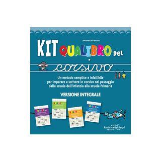 Kit Qualibro del corsivo. Un metodo semplice e infallibile per imparare a scrivere in corsivo nel passaggio dalla scuola dell'infanzia alla scuola primaria - Paoletti Antonella
