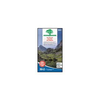 Carta n. 50.2. Val Pellice, Valle Po, Val Varaita. Carta dei sentieri e stradale scala 1:50.000 -
