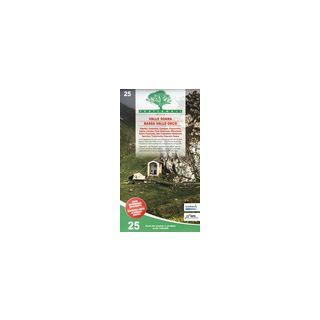 Carta n. 25. Valle Soana, Bassa Valle Orco. Carta dei sentieri e stradale 1:25.000. Adatto a GPS -