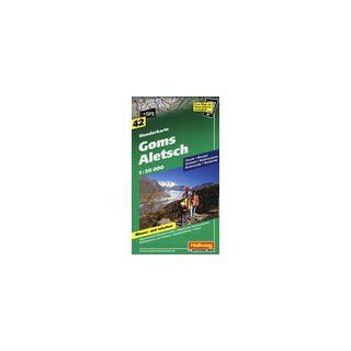 Goms Aletsch 1:50.000. Carta escursionistica -