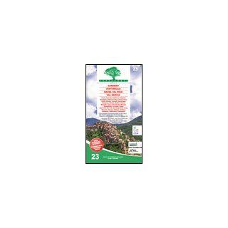 Carta n. 23. Sanremo, Ventimiglia, Bassa Val Roia, Val Nervia. Carta dei sentieri e stradale scala 1:25.000 -